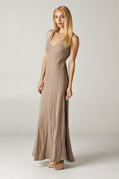 Diana Dress in Mocha Cotton | Women's Clothes, Casual Dresses, Fashion Earrings & Accessories | Emma Stine Limited