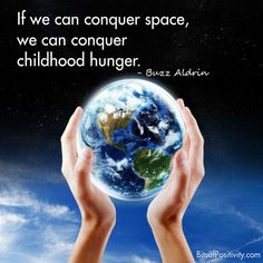 """We Can Conquer Childhood Hunger"" Word Art Freebie"