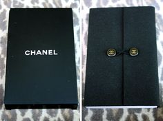 Authentic CHANEL Logo Small Blank Notebook Note Pad Journal Black Unused in Box #CHANEL