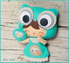 Little felt Owl doll