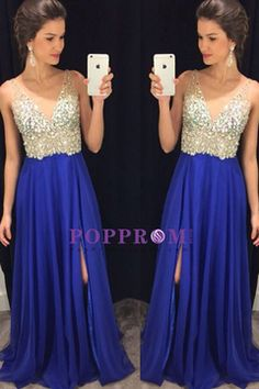 2016 Special Occasion Dresses A Line Sleeveless Sweep/Brush Train (<30cm) Zipper Up Back Dark Royal Blue US$ 179.99 PPHP6X1T676 - PopPromHouses.com for mobile