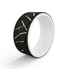 cd8e02f843 Men s Strata Dale and Amy Earnhardt Black and White Silicone Ring