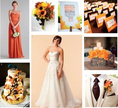 fall wedding color scheme - colors that would go well with the camo