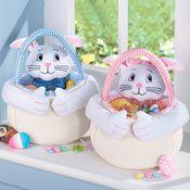 Soft Plush Easter Bunny Basket - 27766