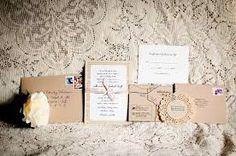 diy vintage wedding invitations - Google Search