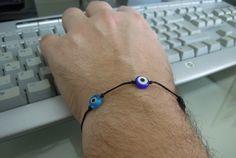 evil eye mens bracelet jewelry men fashion mad by ebrukjewelry, $12.00