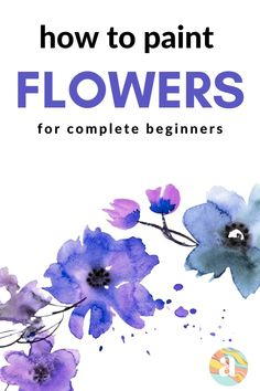 Learning how to paint flowers in watercolor is very fun and this is the step by step guide for you that will help you do just that. Watercolor Beginner, Watercolor Art Lessons, Watercolor Paintings For Beginners, Easy Watercolor, Watercolor Cards, Floral Watercolor, Watercolor Flowers Tutorial, Watercolour Tutorials, Daisy Painting