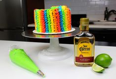 May really snuck up on me this year, but every year I like to make some type of cake to celebrate Cinco De Mayo! This year I decided to make this boozy tequila lime cake, and boy was it a hit! There's tequila in both the cake layers AND the frosting! Tequila Cake, Margarita Cake, Pinata Cake, Lime Cake, Brownie Cake, Brownies, Types Of Cakes, Cake Tasting, Wonderful Recipe