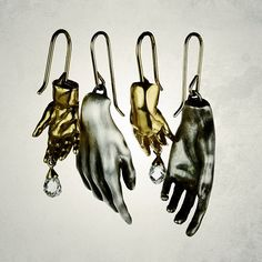 Sculpted hand earrings, Gabriella Kiss , Quadrum