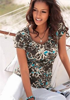 Boysen's Shirt im Online Shop von Ackermann Versand Shops, S Shirt, Floral Tops, Blouse, Shopping, Women, Fashion, Moda, Tents