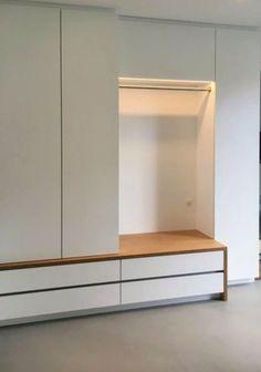 Garderoben, Möbel für Flure und Eingangsbereiche nach Maß Garderobe Modern Design, Flur Design, Entry Way Design, Apartment Projects, Sweet Home, Loft, Shelves, House Design, Storage