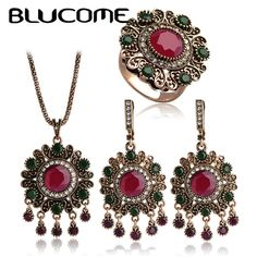 Women Jewelry Turkish Set Necklace Earrings Ring //Price: $21.98 & FREE Shipping //     {#ethnic #fashion #style #traditional |#indian #beautiful #unique| #love #shopping | #ethnicwear #etnik |#vintage #dress | #bohochic #indianwear| #art  #hippie |#beauty #fashion | #sale #design |#onlineshopping #accessories | #Indean #Japanese #african