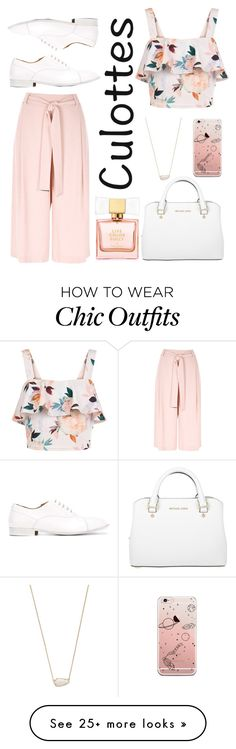 """""""tricky trend - culottes"""" by adela-pysova on Polyvore featuring River Island, New Look, Michael Kors, Kate Spade, Kendra Scott, Maison Margiela, TrickyTrend and culottes"""