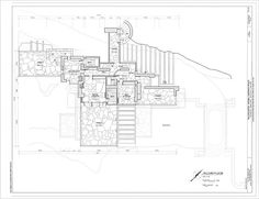 Second Floor Plan   Fallingwater, State Route 381 (Stewart Township),  Ohiopyle,