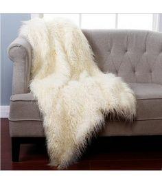 Mongolian Lamb Faux Fur Throw Everything Furr Fur