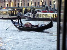 Gondolier on the Grand Canal at Ferrovia