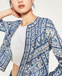 Image 4 of EMBROIDERED JACKET from Zara
