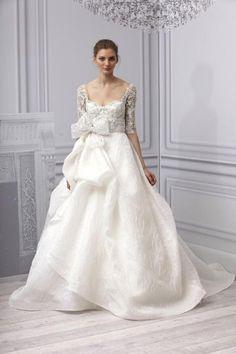 Monique Lhuillier Spring 3013 via: Bow Belts / Wedding Style Inspiration / LANE