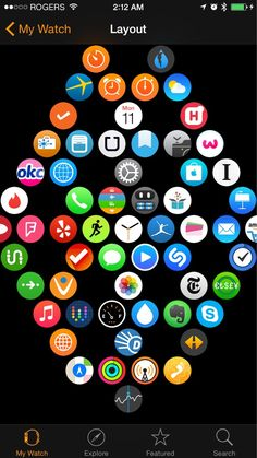 Scientifically perfect way to organize your Apple Watch apps You're probably not organizing your Apple Watch apps efficiently, according to Fitts's law. Iphone Apple Watch, New Apple Watch, Apple Watch Series 2, Apple Watch Fashion, Best Apple Watch Apps, Apple Tv, Apple Apps, Apple Watch Accessories, Ipad