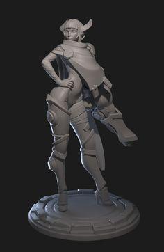 http://www.zbrushcentral.com/showthread.php?210294-Destiny-Battlerite-Fanart-Sculpt&p=1223258&infinite=1#post1223258