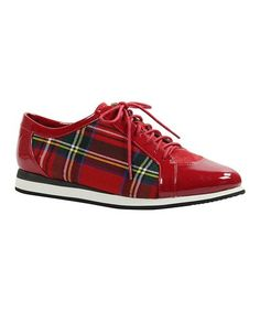 Look what I found on #zulily! Red Plaid Mackenna Sneaker #zulilyfinds