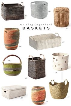 Getting Organized with Baskets