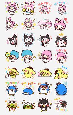 Cute Sanrio characters