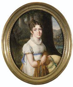French School, Portrait of a Lady, called Mme de Saucy, née Gévaudan, ca.1810