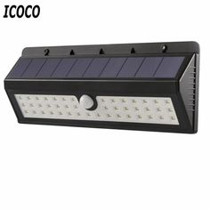 ICOCO Solar LED Human Body Induction Motion Sensor Lamp Outdoor Garden light Waterproof Light Energy Saving 4400mAh 44LEDs #Affiliate