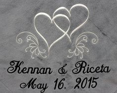 Personalized Wedding Embroidered Throws And Blankets 25th Silver Anniversary Gift Or Gold 50th