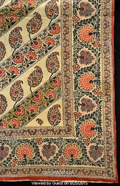 Bed cover with paisley pattern. Uttar Pradesh, India, late 19th century