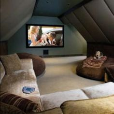 TV Room. Better use of attic space