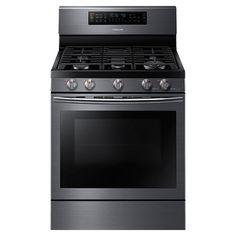 "30"" Freestanding Gas Flex Duo ® Oven & Gas Range (Black Stainless Steel) | Samsung"