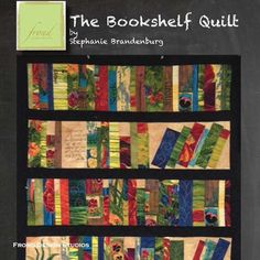 Book Shelf Quilt in Edible Garden Pattern Paper Piecing Patterns, Quilt Block Patterns, Modern Quilt Blocks, Fabric Markers, Quilting Projects, Quilting Ideas, Quilted Wall Hangings, Book Quilt, Small Quilts