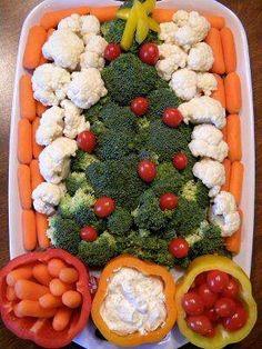 Christmas tree veggie presentation!
