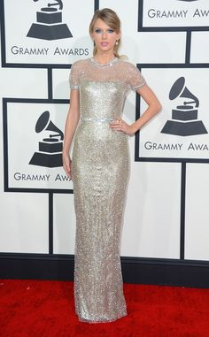 "Taylor Swift in ""bullet proof"" Gucci. ""It's all the things you would think it would be."" Additionally, hot. #GRAMMYs"