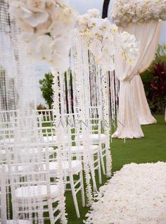 Wedding Aisle Decorations | Weddings Romantique    //////////////              Vietnamese/English wedding invitation @ www.ThiepCuoiCali.com             //////////////