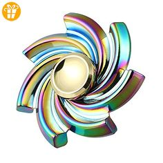 1 Pcs Finger Gyro Toys and 1 Pcs Bag ,YCCY New Flower Cyclone Fidget Hand Spinner Triangle Alloy Finger Toy EDC Focus Desk Toy Gift for Kids & Adults - Fidget spinner (*Partner-Link)