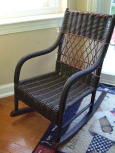 Vintage Childrens Wicker Rocking Chair