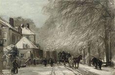 Lodewijk Franciskus Hendrik 'Louis' Apol (1850-1936) - Scheveningseweg in de winter (ca. 1900). Collectie Christies.
