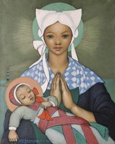 Xavier de Langlais, Notre-Dame de la Mer, Our Lady of the Sea Blessed Mother Mary, Divine Mother, Blessed Virgin Mary, Religious Images, Religious Icons, Religious Art, Immaculée Conception, Images Of Mary, Queen Of Heaven