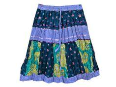 Boho Midi Skirt Red Black Printed Cotton Crinkle Midi Skirt #Mogul Interior @ http://www.amazon.com/dp/B00KQFN2OU