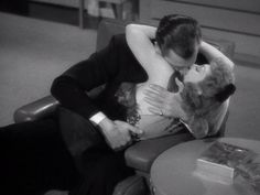 This movie is very violent! jk. This screenshot sure makes it look like it though.     The Palm Beach Story  (1942) starring Claudette C...