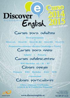 #recuerda empezamos la semana del 15/09 nuevos #cursos de #ingles en www.discoverenglish.es en Fuente Alamo
