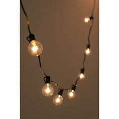 Black Cord Globe String Lights (105 PLN) ❤ liked on Polyvore featuring home, outdoors, outdoor lighting, outdoor party lights, outdoor string light, outside string lights, outdoor fairy lights and outdoor string of lights