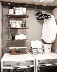 """Awesome """"laundry room storage diy shelves"""" detail is offered on our website. Have a look and you wont be sorry you did. Laundry Room Shelves, Small Laundry Rooms, Laundry Room Organization, Laundry Room Design, Laundry Room Sayings, Laundry Closet, Laundry Hamper, Closet Storage, Storage Room"""