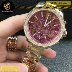 f7bf5085c นาฬิกาข้อมือ Michael Kors MK6290 Michael Kors Wren Fuchsia Crystal Pave  Gold-tone Stainless