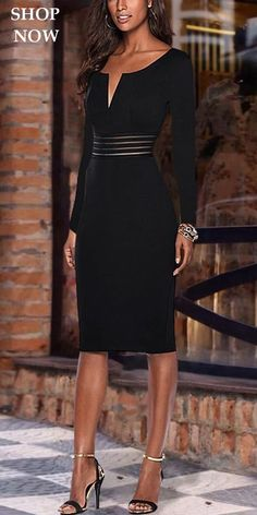Black Bodycon Dress Black Bodycon Dress,Kleidung Tight collar dress bag hip skirt bodycon dress, fashion casual style and comfortable material you will love it, coats, sweaters and dresses you can options. Dress Outfits, Mode Outfits, Fashion Dresses, Bodycon Fashion, Sweater Outfits, Bodycon Outfits, Black Women Fashion, Womens Fashion, Style Fashion