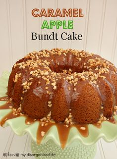 Caramel Apple Bundt Cake- {i love} my disorganized life #caramelapple #caramel #bundt