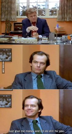 The last meeting I had with my boss